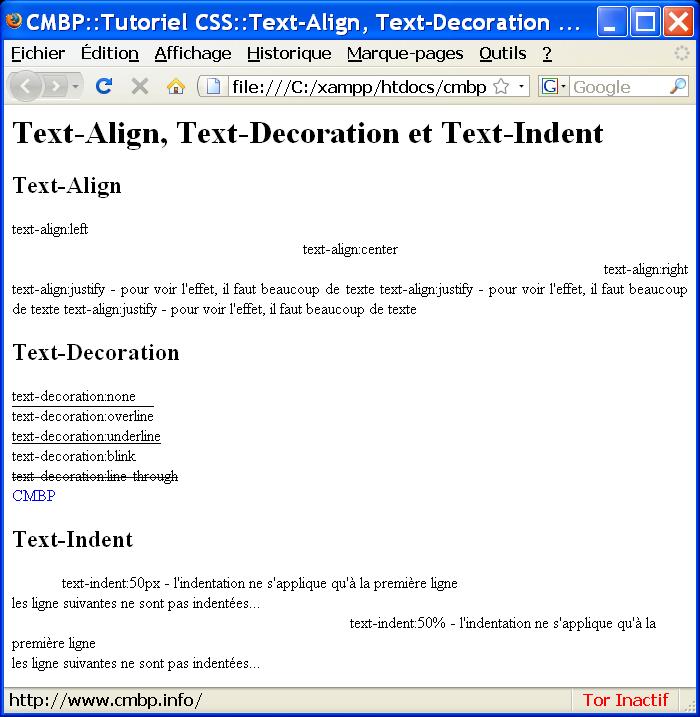 text decoration indentalign