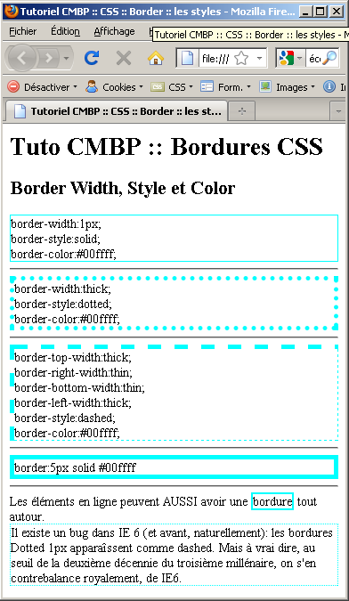 tutoriel css by Xavier Braive crossed the Border in Style