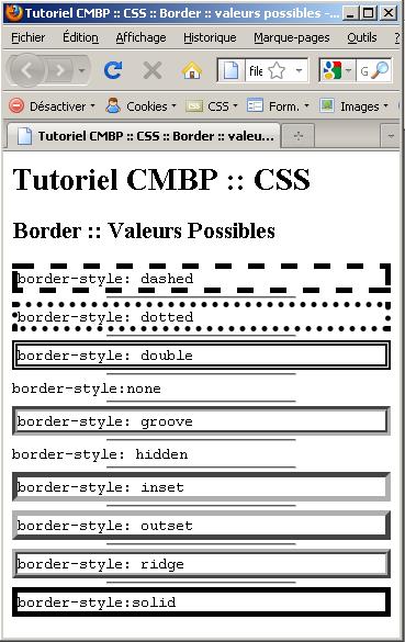 tutoriel css by Xavier Braive : valeurs de Border