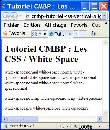 tutoriel css cmbp vertical align IE